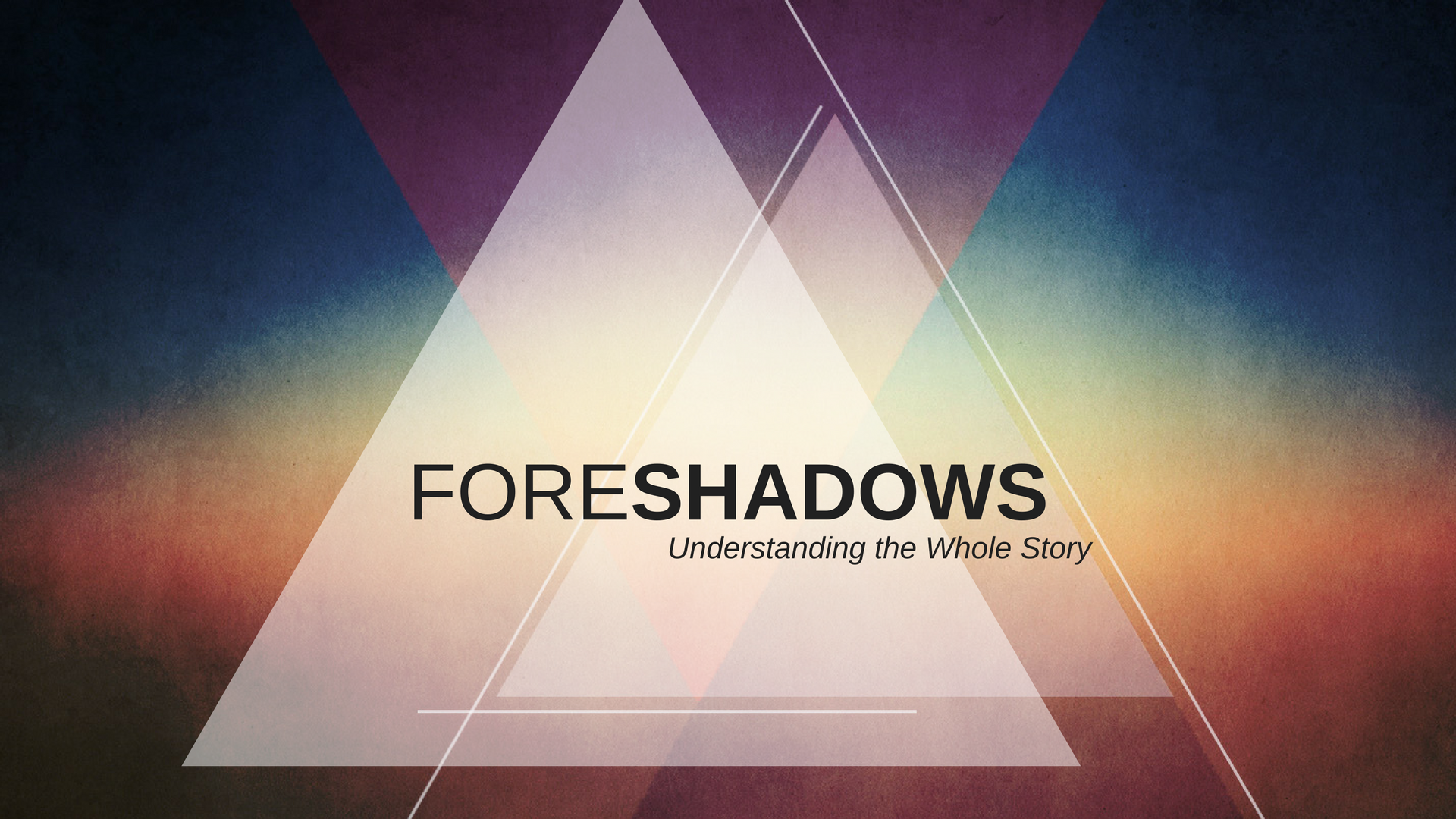 Foreshadows: Feasts and Festivals