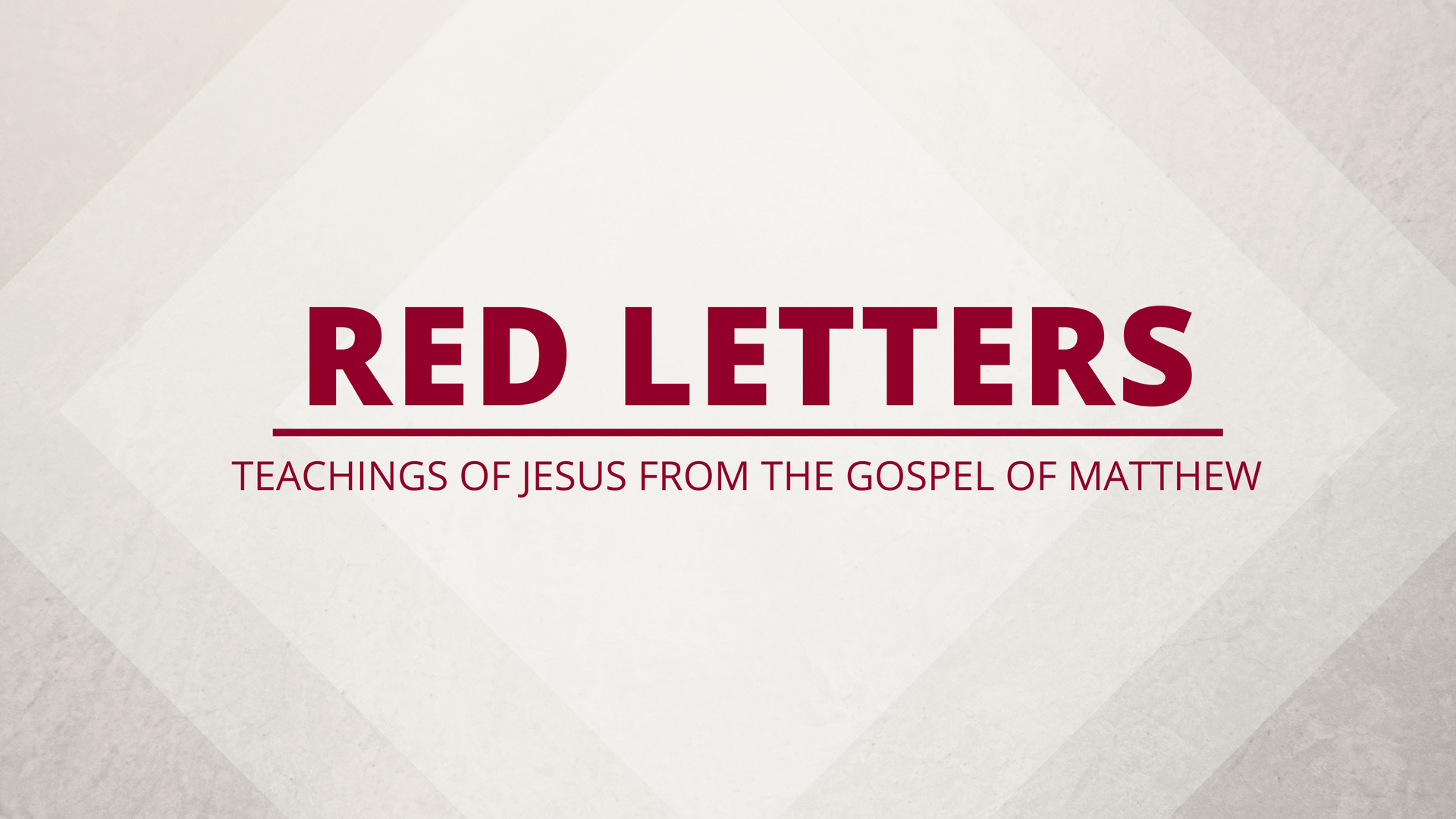 Red Letters: Gifts at the Altar